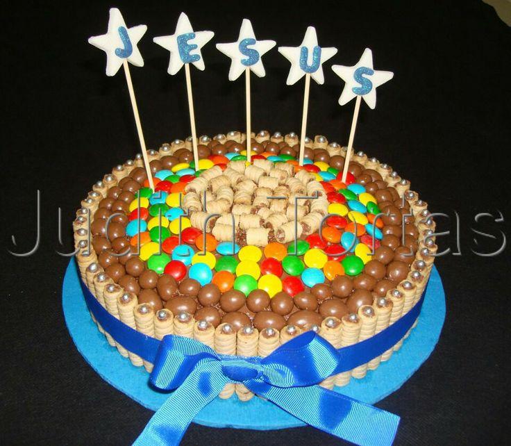 Mejores 30 im genes de tortas cakes con golosinas en - Adornos con golosinas ...