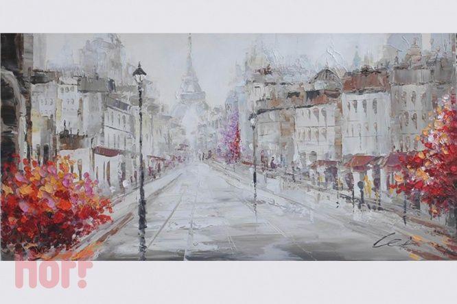 Репродукция 120х60 см Париж - купить в интернет-магазине Hoff. Характеристики, фото и отзывы.