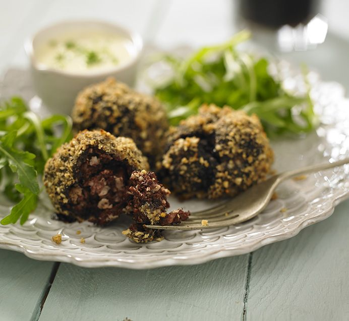 Irish Black Pudding & Lamb Meatballs