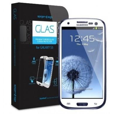 Protector Pantalla Galaxy S3 Spigen SGP Cristal Templado Oleophobic Glas