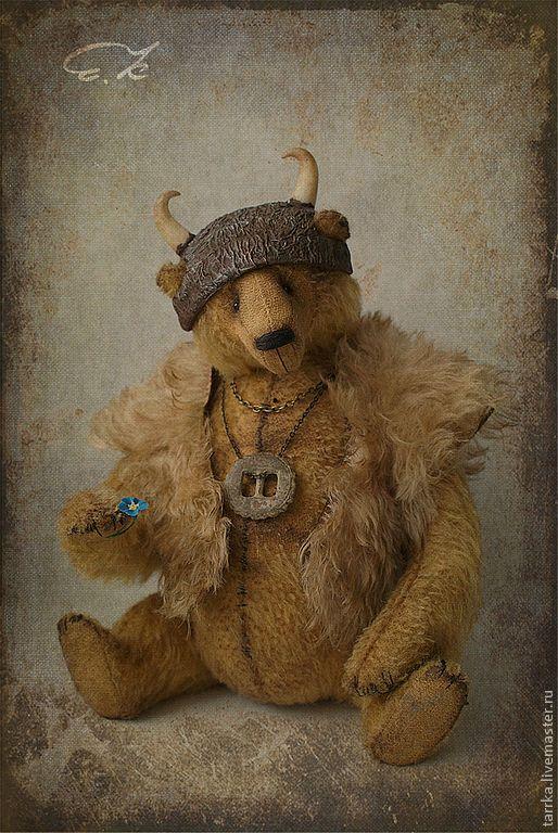 Купить Рюрик - рыжий, тедди, викинг, мишка, медведь, авторский, коллекционный, состаренный, мохер, опилки