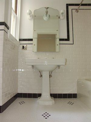 Subway tile 1940 39 s bathroom bathroom ideas pinterest for Bathroom ideas 1920s home