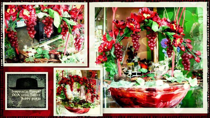 Ikebana z winogrono.