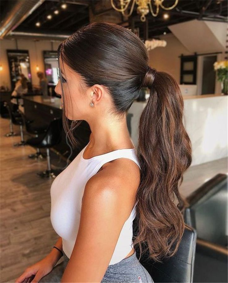 Gorgeous And Eye-Catching Ponytail Hairstyles For Your To Try; Casual And Stunning Ponytail Hairstyles Which You Will Love; twisted ponytail; ponytail hairstyles; trendy hairstyles and colors; women hair colors; easy ponytail hairstyles; ponytail; Daily Hairstyles; Ribbon Ponytail; #ponytail #highponytail #hairstyles