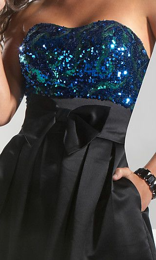 cute formal dress: Fashion, Party Dresses, Style, Clothes, Prom Dress, Sparkle, Bow, New Years