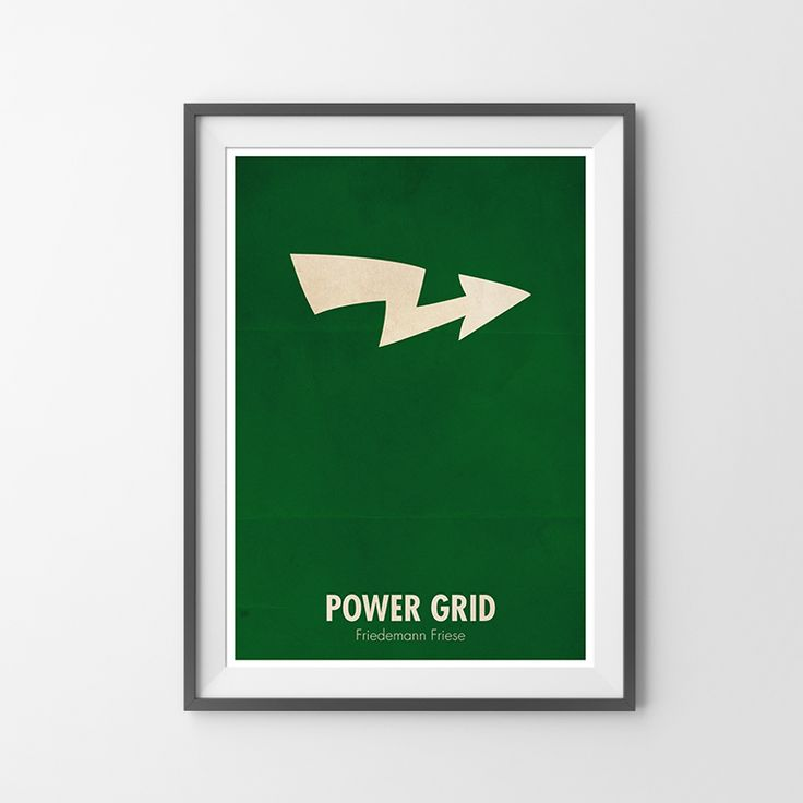 Power Grid board game poster - Redfox Creations