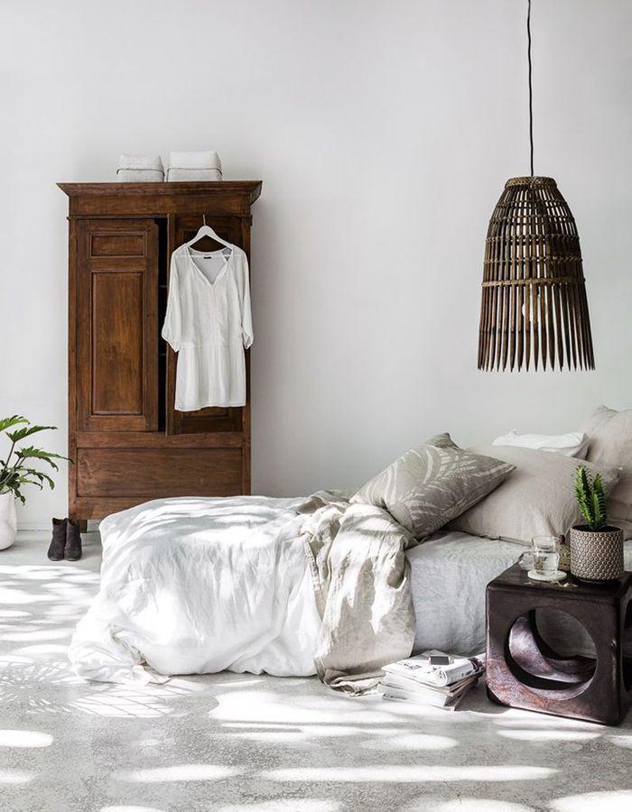 16++ Chambre blanche et bois fonce ideas