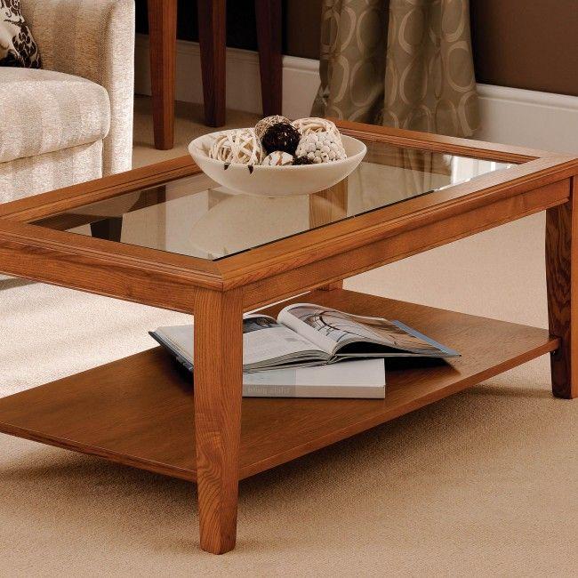 G Plan Davenport Glass Top Coffee Table