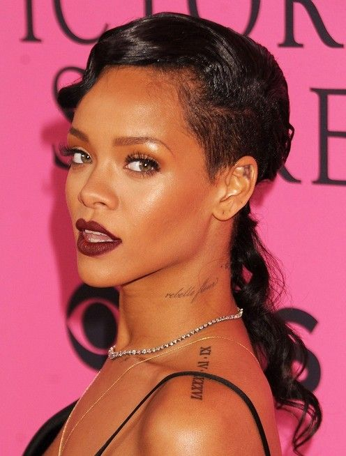 Rihanna Long Hairstyles: Curly Hair