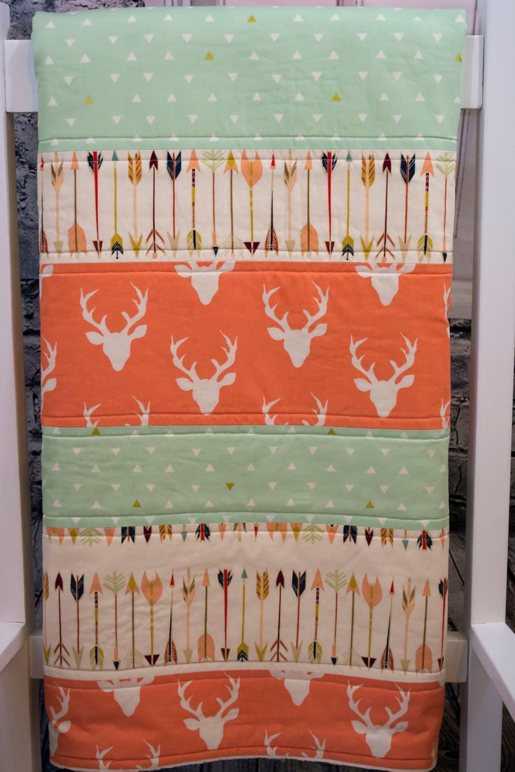 Baby Quilt, Woodland Baby Quilt, Baby Girl Quilt, Baby Girl Crib Quilt, Crib…