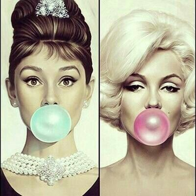 Audrey Hepburn and Marilyn. Beauty,Class,Elegance. The likes of which you'll never c again.