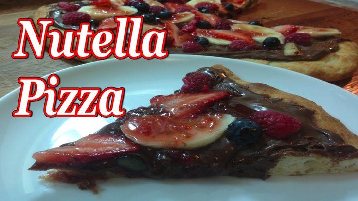 Nutella Pizza ~ Caroline Manzo Of Rhonj Recipe -- Watch Diana DeLaFuente create this delicious recipe at http://myrecipepicks.com/3506/DianaDeLaFuente/nutella-pizza-caroline-manzo-of-rhonj-recipe/