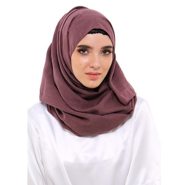 Jilbab | Hijab - Zada Pashmina Polos Cassanova - Cokelat