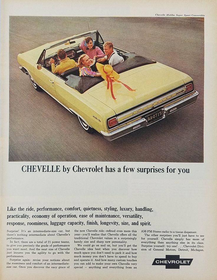 1965 Chevelle Malibu Super Sport Convertible Vintage Ad - Double Date