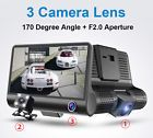 ﹩47.99. Dual Lens 4'' HD 1080P Vehicle Car Dash Cam Rear Video Camera Recorder DVR  MC   Type - DVR (Digital Video Recorder), Number of camera - 3 cameras / 3 Lens (Dual lens and rearview camera), Features - G-sensor,Parking Monitoring,Loop Recording,HDR,Time Stamp, Lens - 170 degree wide angle and 6 layer of glass lens, Video Format - AVI (H.264), Screen Size - 4.0'' HD IPS display screen, Video Resolution - 1080P Full HD ,720P, Card - TF card(supported up to 32GB,access sp