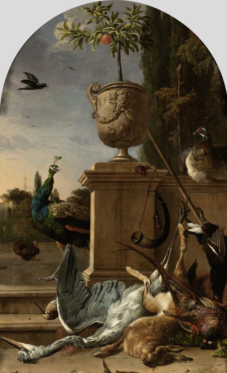 A Hunter's Bag on a Terrace   Melchior d' Hondecoeter   1678   Rijksmuseum   Public Domain