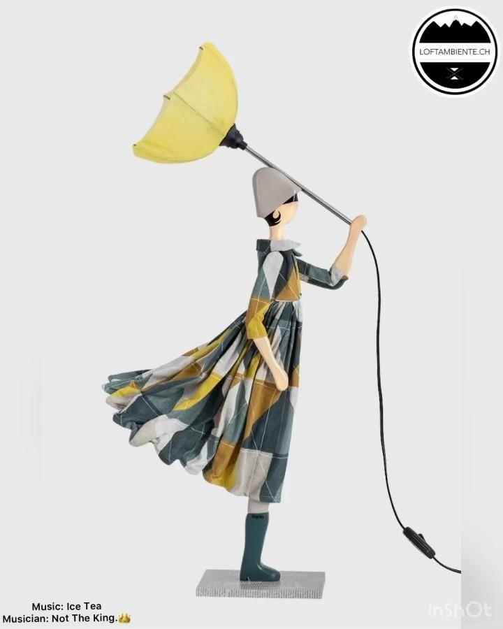 Skitso Lampe Design Leuchte Figurenlampe Frau Mit Schirm Figurenleuchte Video In 2021 Design Lampen Leuchtbuchstaben Lampe