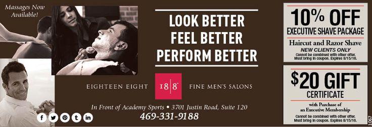 #1 HAIR SALON FOR MEN HAIRCUT COUPON FLOWER MOUND