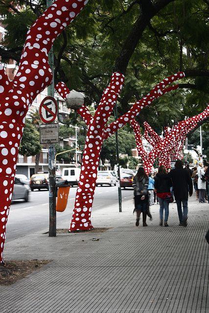 Yayoi Kusama en el Museo Malba.m Buenos Aires, Argentina