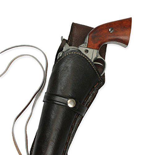 Historical Emporium Men's Left Hand Plain Leather Western Holster Brown
