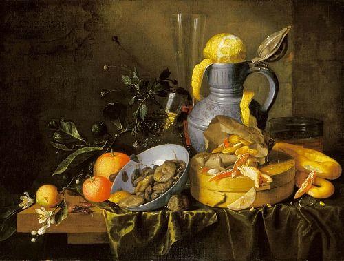 Jan Davidsz de Heem  Still Life with Motto and Lenten Food  1650