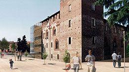 2° classificato al concorso Tre Luoghi Pubblici ad Abbiategrasso. Un museo con sale auditorium all'interno del castello Visconteo.