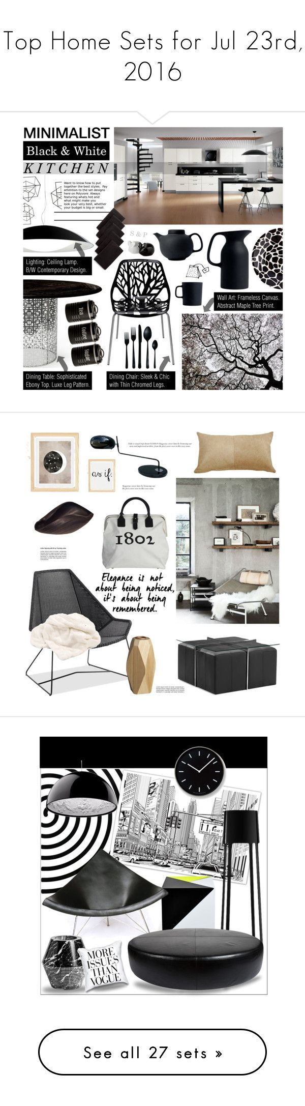 """Top Home Sets for Jul 23rd, 2016"" by polyvore ❤ liked on Polyvore featuring interior, interiors, interior design, home, home decor, interior decorating, Kartell, Jonathan Adler, Nuevo and Typhoon"