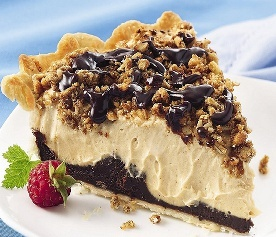 Bob Evans Peanut Butter Pie Ingredients:   1 (5 oz.) pkg. Jell-O Instant Vanilla Pudding   2 cups cold skim milk   1/2 cup whipping cream, whipped   1 1/4 cup creamy peanut butter   1 prebaked pie shell of your choice  1 (8 Ounce) container of Cool Whip   Garnish: chocolate syrup & crushed peanuts  Directions: Whisk together pudding mix and cold milk in bowl until creamy. Add 1/2 cup whipped whipping cream, peanut butter. Whisk until completely blended.     Pour into baked pie shell, cover…