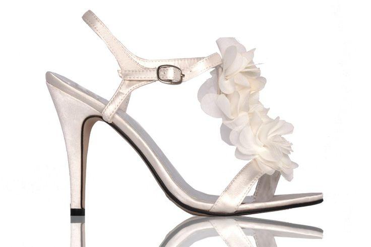 Galaschoenen / sandaaltjes Flower - ivoor (N11)