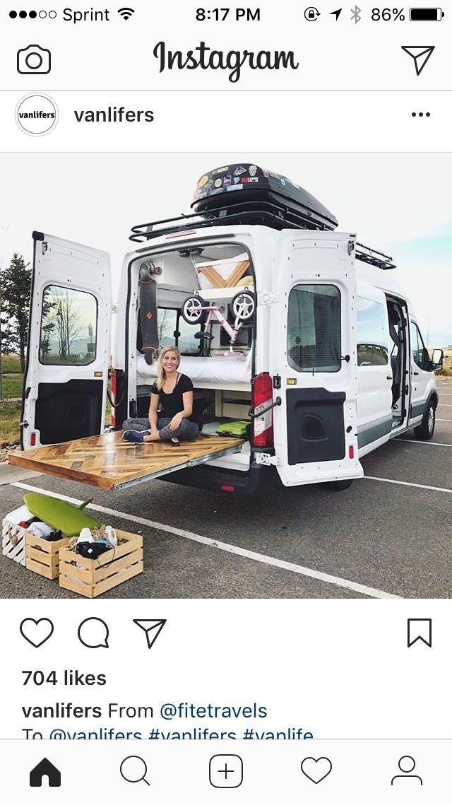 Living The Van Life In A Great Set Up Van Build Inspiration Van