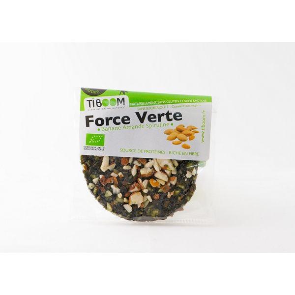 Galette Force verte à la spiruline 30g Tiboom | Acheter sur Greenweez.com