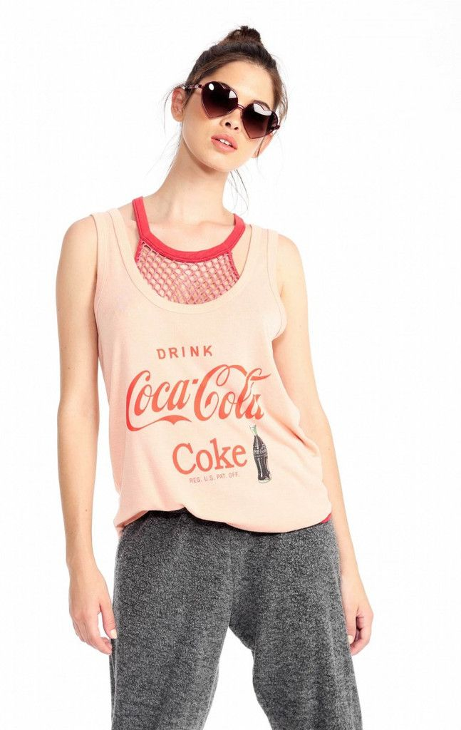 Wildfox Drink Coca Cola Roadtrip Tank - Frendz & Co.  - 1