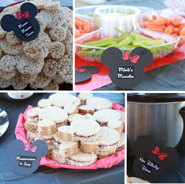 minnie mouse party: Minnie S Munchies, Mickey Mouse Parties, Mouska Treats, Birthday Party Foods, Mickey Shaped, Mickey Party, Minnie Mouse Party, Party Ideas