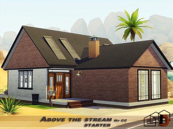 Above The Stream Starter House By Danuta720 For The Sims 4 Sims 4 Starter Home Sims 4 House Plans