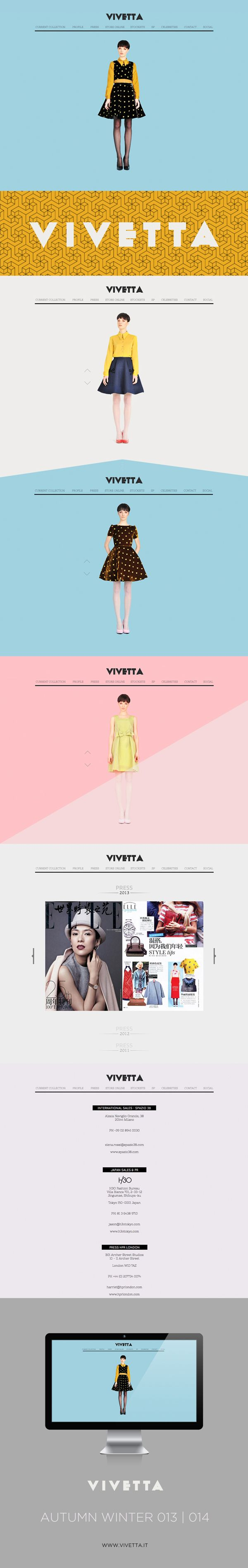 VIVETTA - WEB DESIGN 2013 by Houkart , via Behance