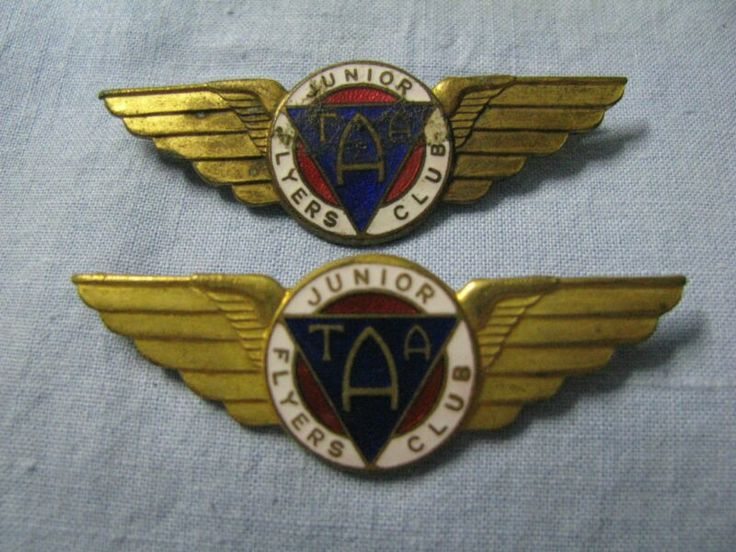 TAA Junior Flyers Club Wings Badge