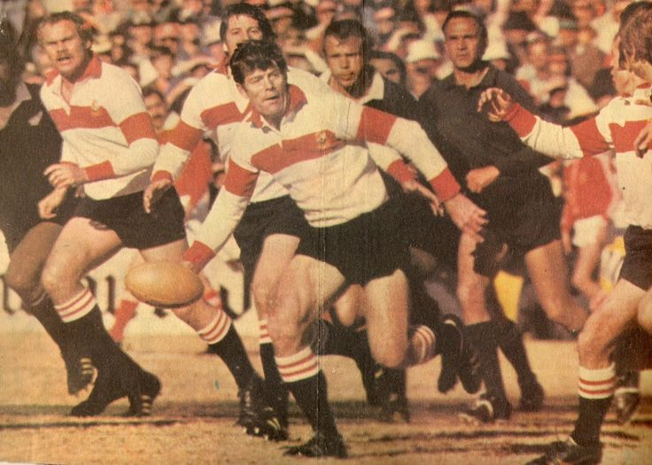 31 July 1976 - Transvaal 10 / All Blacks 12  As this group of pictures indicate Jan Ellis had at least one run with the ball during the match which is a bit more than old Terry McLean would like to give him credit for.