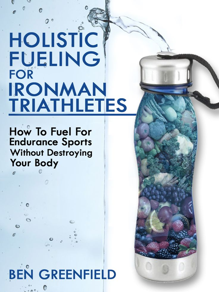 """Designed by nationally renowned author, exercise physiologist, sports nutritionist, and triathlon coach, Ben Greenfield, this comprehensive daily nutrition plan for Ironman triathletes goes far beyond simple """"meal suggestions"""".  Instead, you'll receive an exact weekly plan for base training, building to a race, carb loading, race day fueling, and even off-season and recovery weeks."""