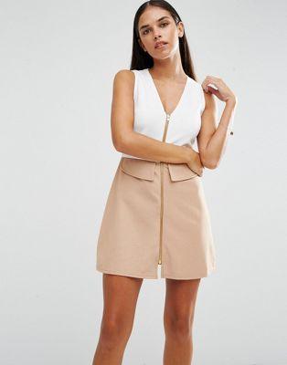 AX Paris - Vestito svasato con zip davanti