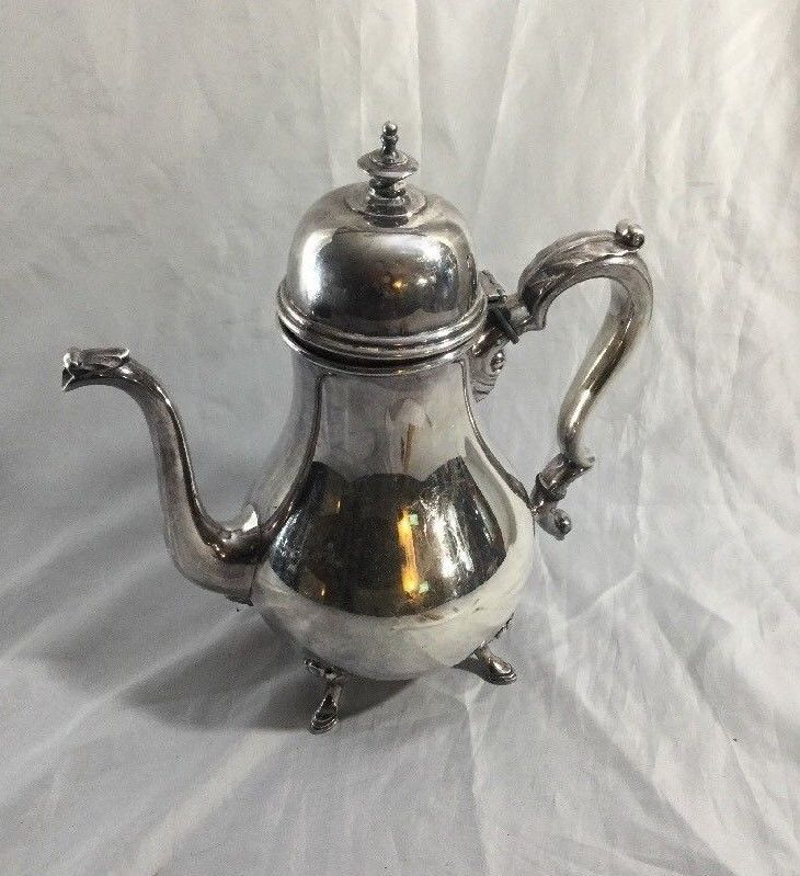 VINTAGE INTERNATIONAL GEORGIAN COURT SILVERPLATED TEA/COFFEE  #InternationalSilver