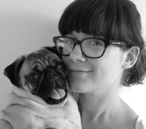 Artist Gemma Correll and Mr. Norman Pickles