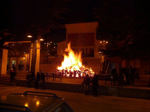 Bonfire in the Piazza  Gairo 2010