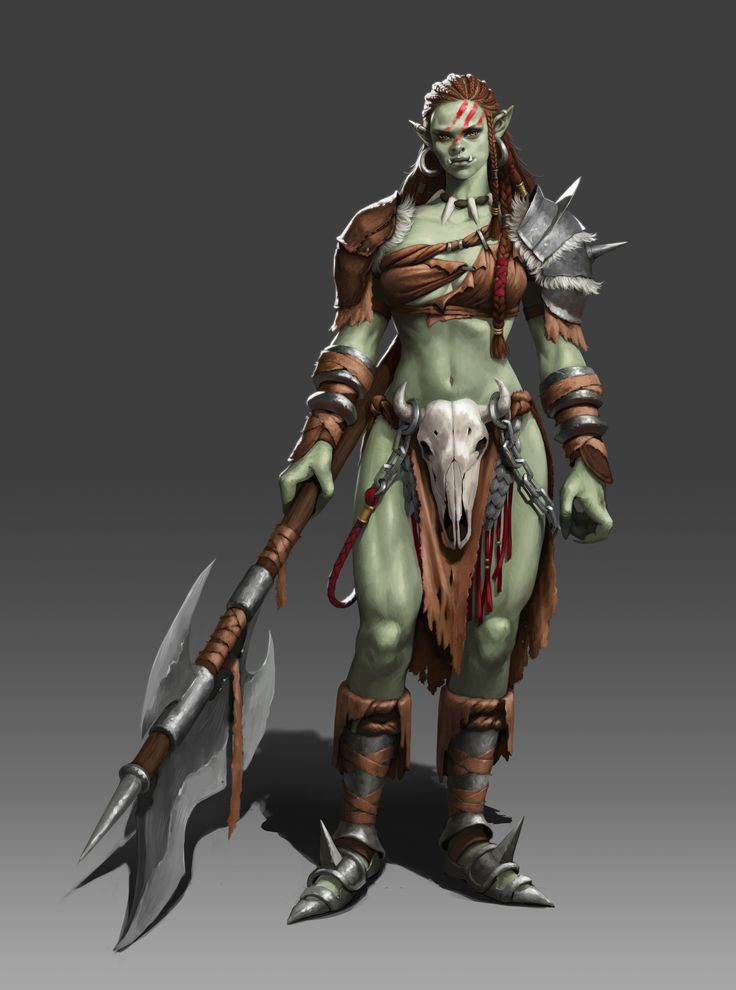 Recommend female orc warrior sorry, that