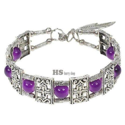 Fancy Purple Agate German Silver Cuff Bracelet | 5STAR - Jewelry on ArtFire