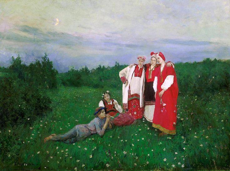 Константин Коровин «Северная идиллия». Описание картины