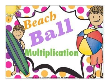$This product Beach Ball Multiplication to 100, will give your students fun practice with multiplication up to the number 100, which is a nationally recognized standard to be met in mathematics for 3rd grade. Includes: *Multiplication practice with 0's*Multiplication practice with 1's*Multiplication practice with 2's*Multiplication practice with 3's*Multiplication practice with 4's*Multiplication practice with 5's*Multiplication practice with 6's*Multiplication practice with…