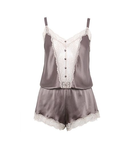@Alexandra M What Wear - Mark and Spencer Rosie for Autograph - Silk Teddy with French Designed Rose Lace ($97) in Dove