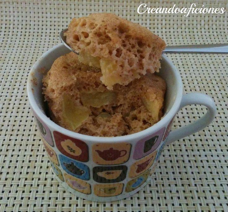 Mug cake de manzana y canela