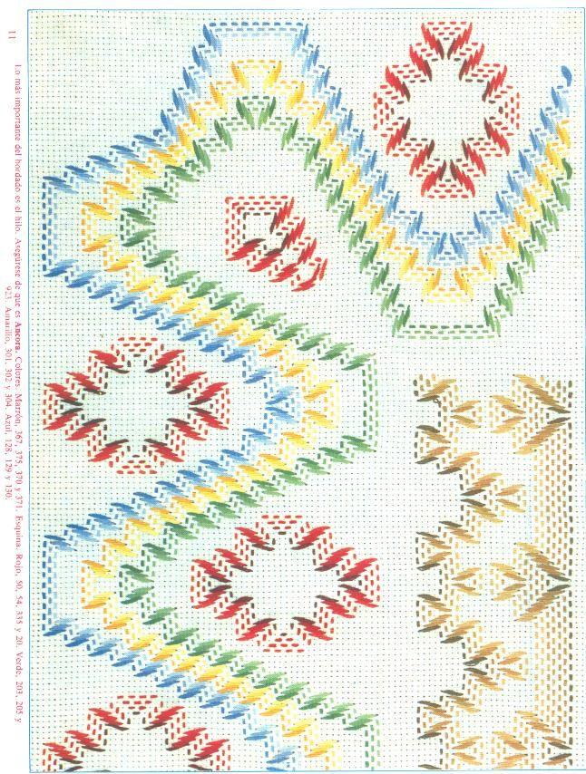 Punto Yugoslavo / Vagonite pattern Huck Weaving