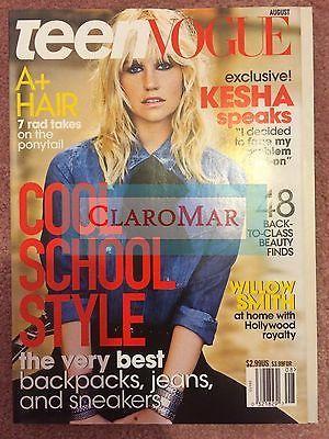 ☀️NEW Teen Vogue August 2014 Kesha Trends Fashion Beauty Health